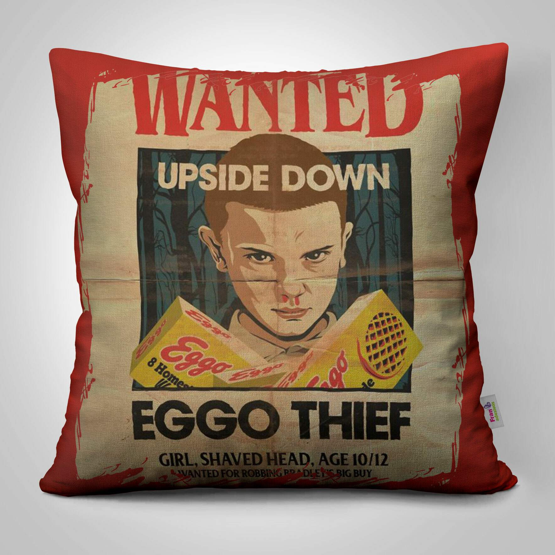 Almofada Decorativa Stranger Things Eggo Thief
