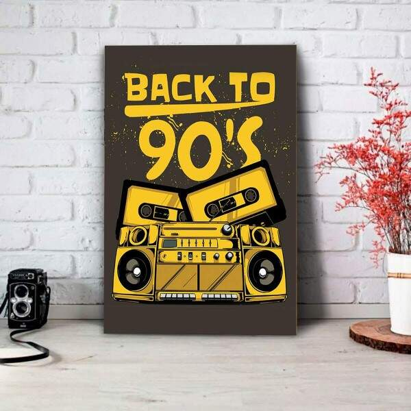 Placa Decorativa Back To 90s