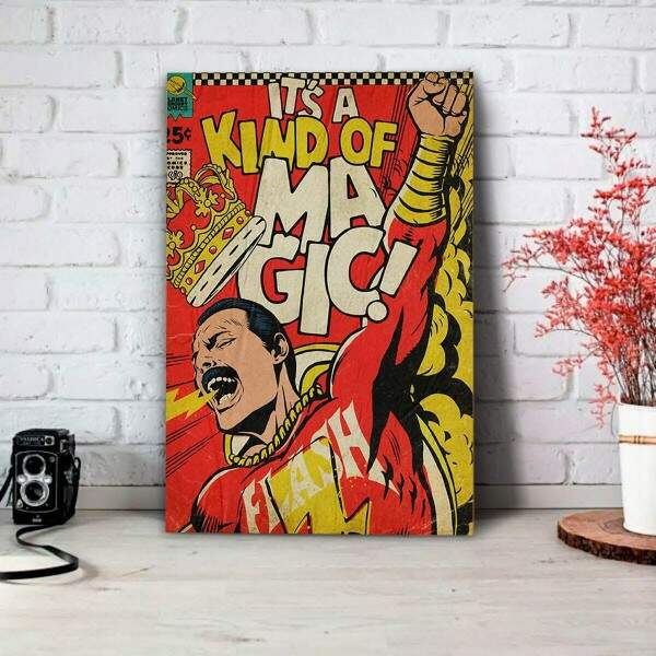 Placa Decorativa Freddie Mercury Magic