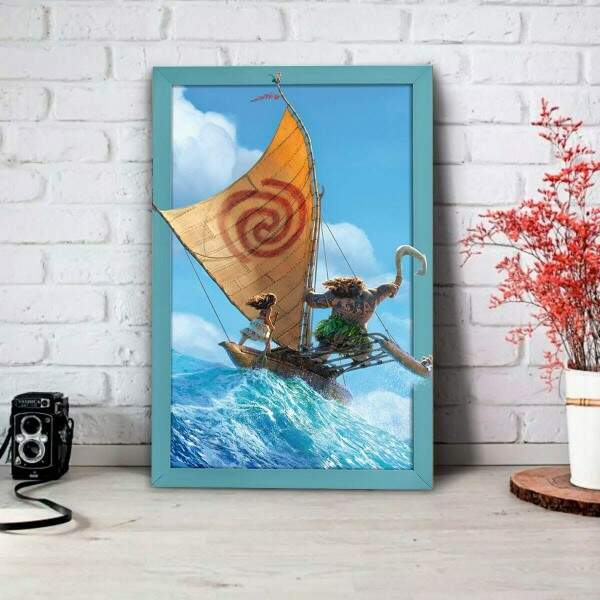 Placa Decorativa Moana 3D