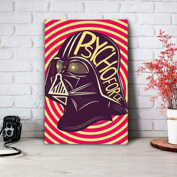 Placa Decorativa Star Wars Darth Vader Pop Art