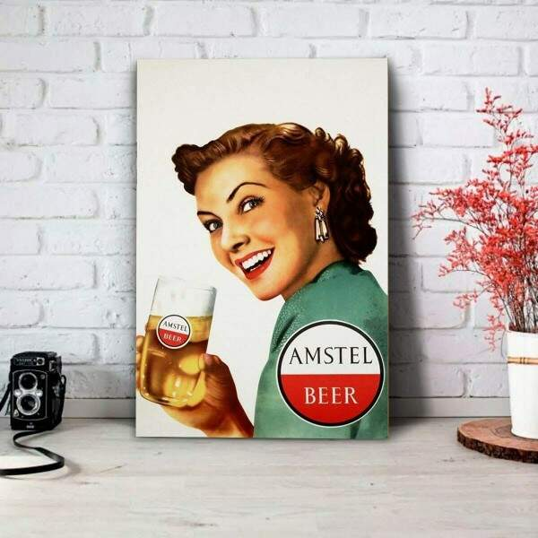 Placa Decorativa Amstel Beer