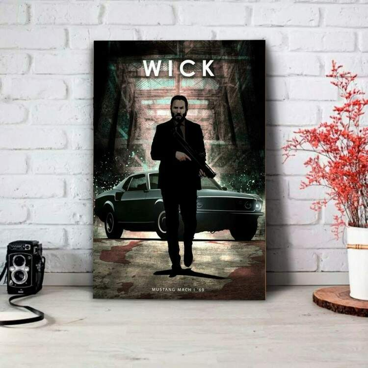 Placa Decorativa Jhon Wick