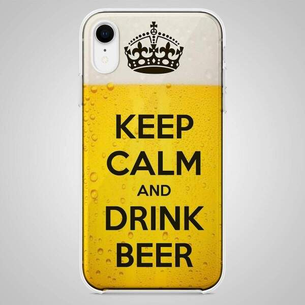 Capa para Celular Keep Calm and Drink Beer