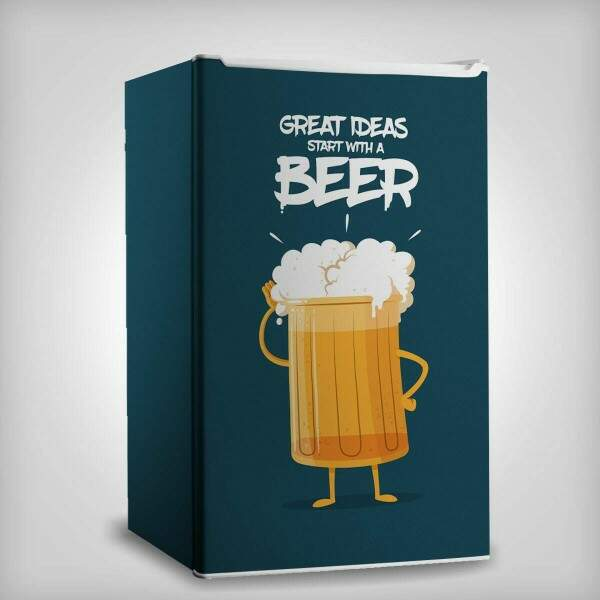 Envelopamento de Frigobar Inteiro Grest Ideas Start With A Beer