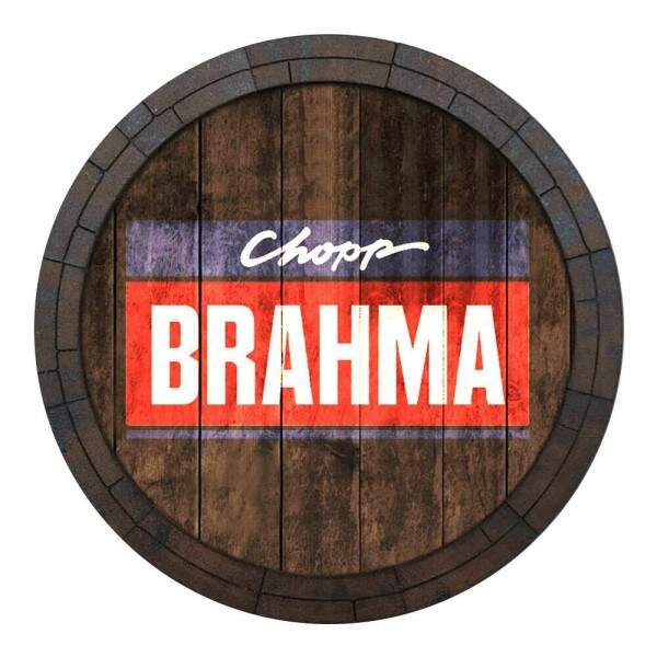 Placa Decorativa Redonda Brahma Chopp