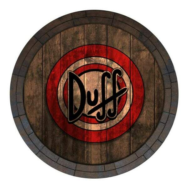 Placa Decorativa Redonda Duff