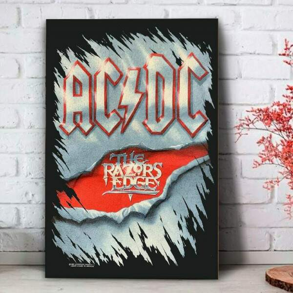 Placa Decorativa Banda ACDC 01