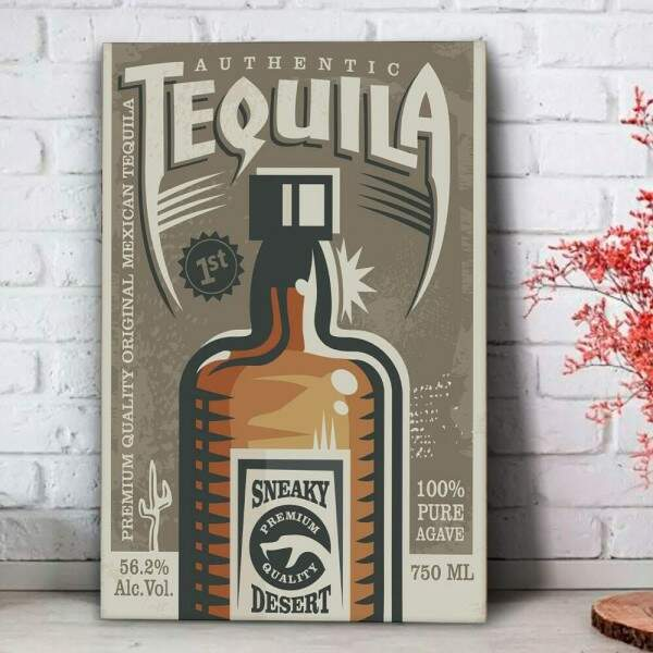 Placa Decorativa Authentic Tequila