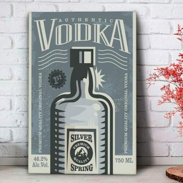 Placa Decorativa Authentic Vodka