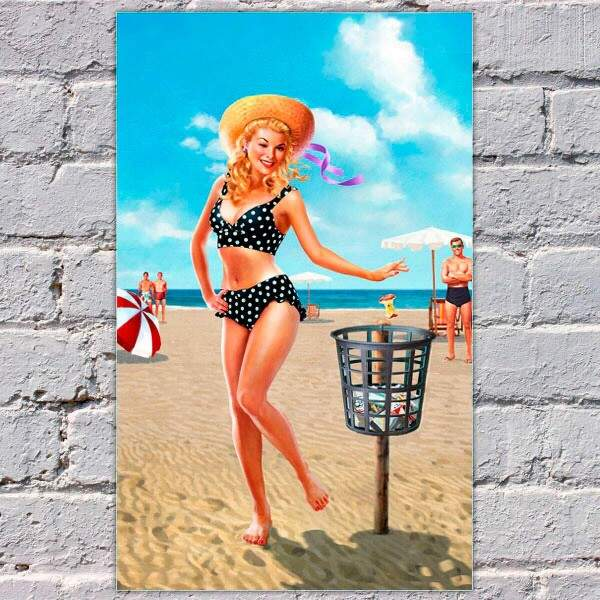 Placa Decorativa Pin Up Retro 1