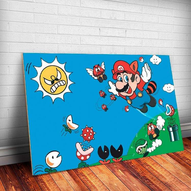 Placa Decorativa Mario World