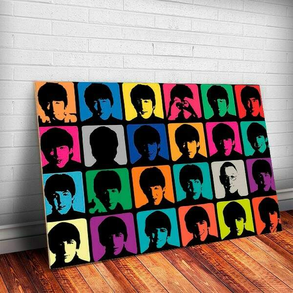 Placa Decorativa The Beatles Banda