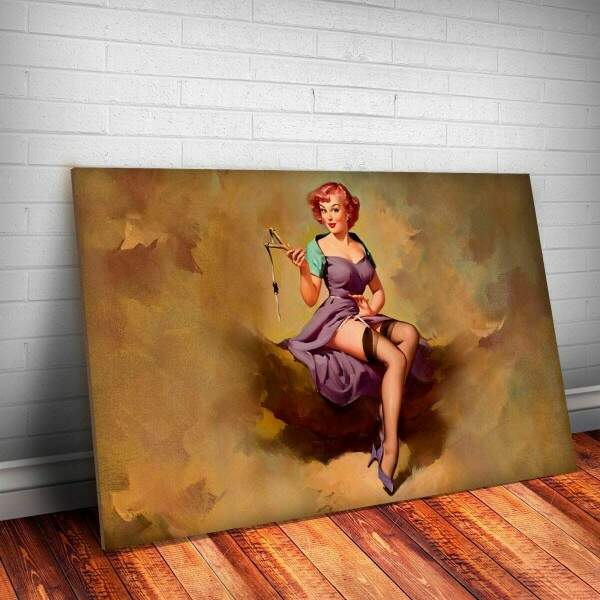 Placa Decorativa Pin-Up Estilingue