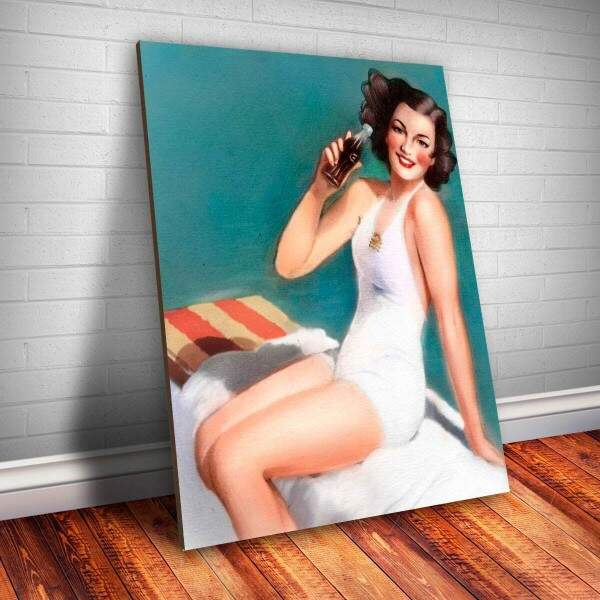 Placa Decorativa Pin-up Bebida 2