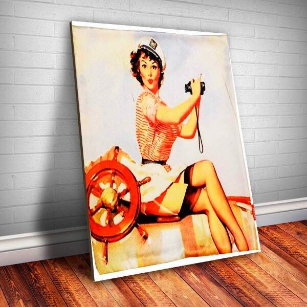 Placa Decorativa Pin-up Binoculo