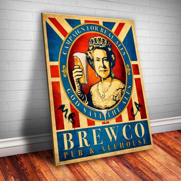 Placa decorativa Bebidas 1 Brewco