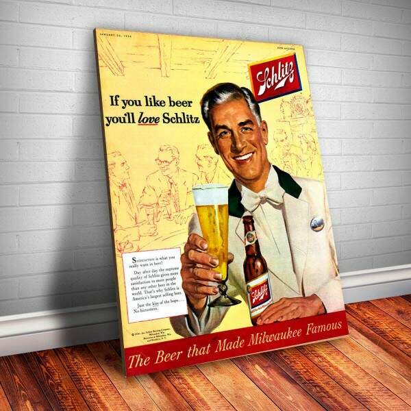 Placa decorativa Bebidas 7 Schlitz