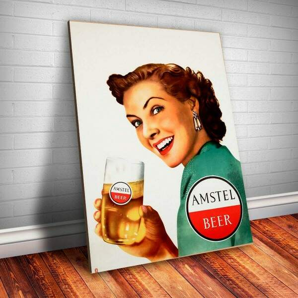 Placa decorativa Bebidas 9 Amstel