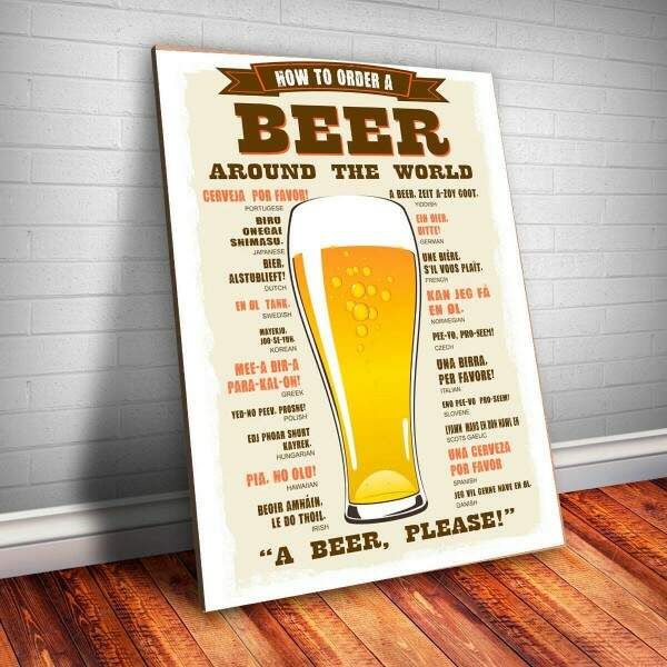 Placa decorativa Bebidas 13 Beer