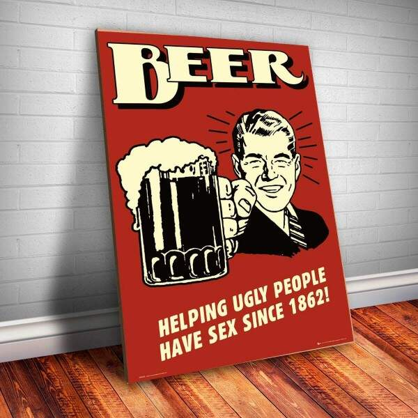 Placa decorativa Bebidas 14 Beer