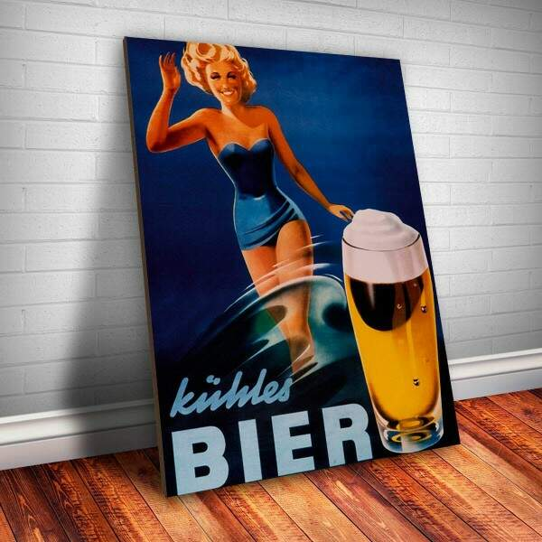 Placa decorativa Bebidas 19 Bier