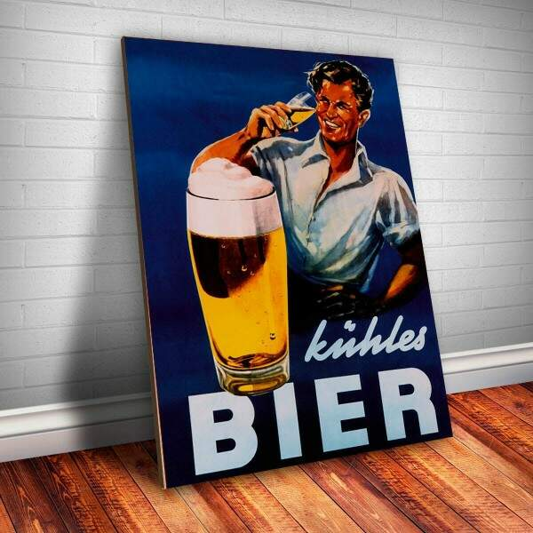 Placa decorativa Bebidas 21 Bier