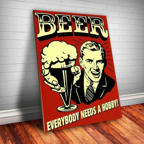 Placa decorativa Bebidas 22 Beer