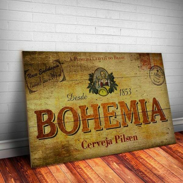 Placa decorativa Bebidas 42 Bohemia