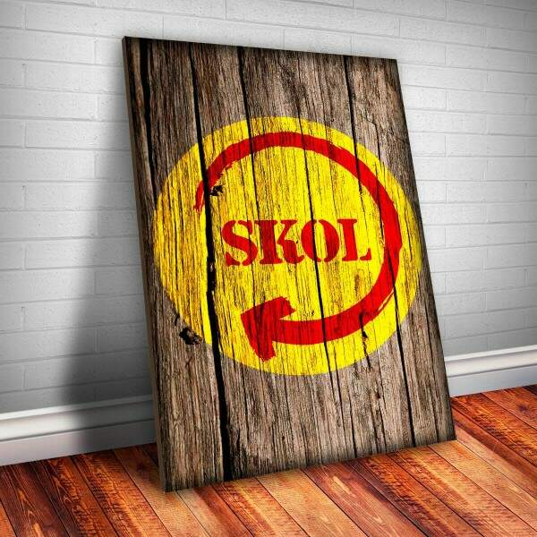 Placa decorativa Bebidas 44 Skol