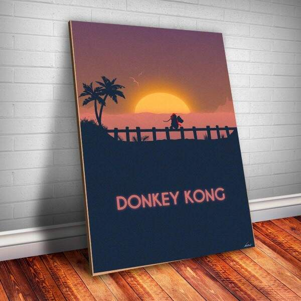 Placa Decorativa Donkey Kong 1
