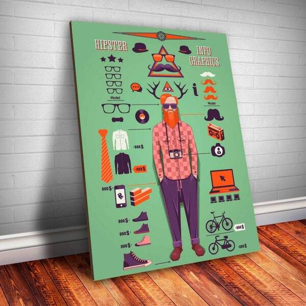 Placa Decorativa Hipster 3