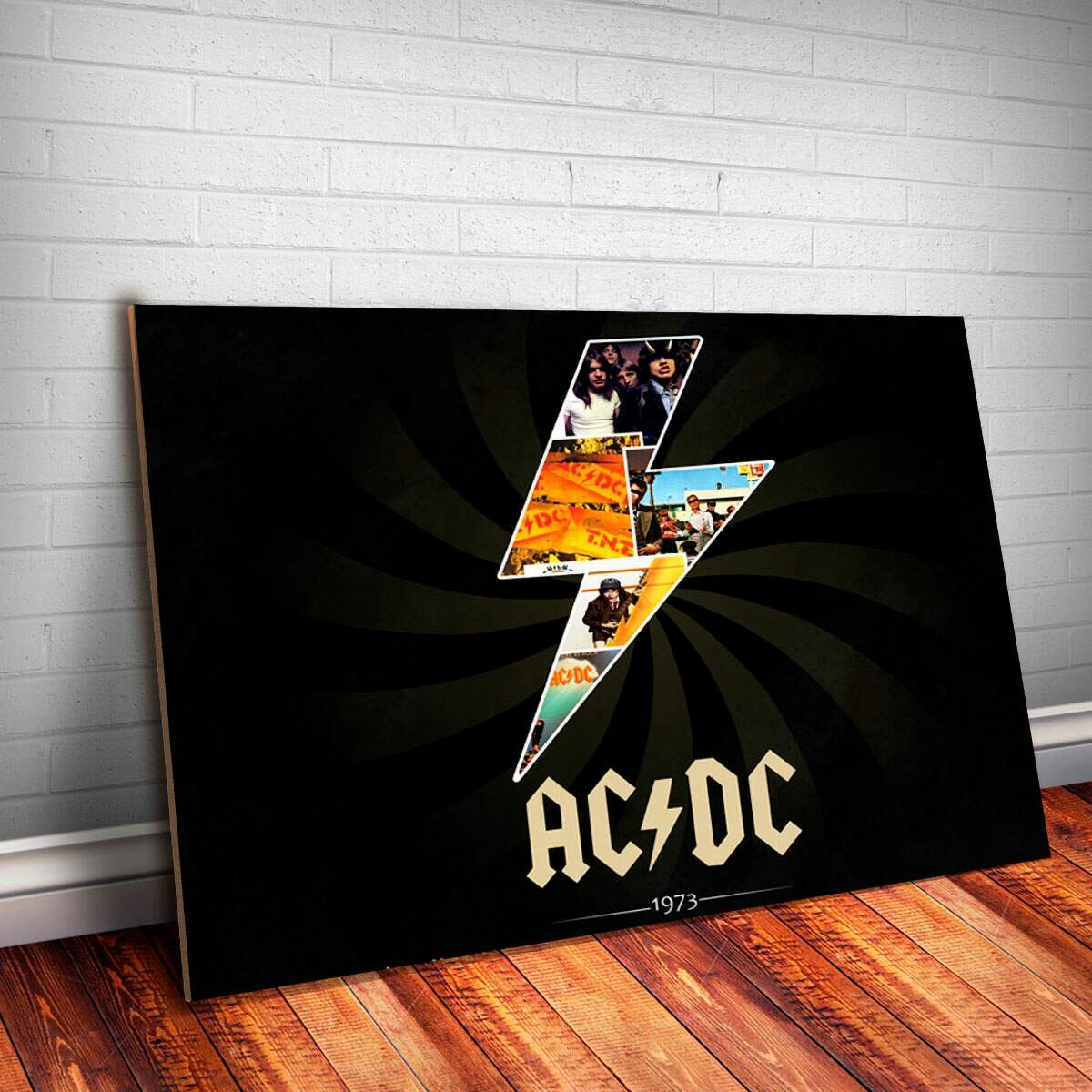 Placa Decorativa AC-DC 3 Banda Rock