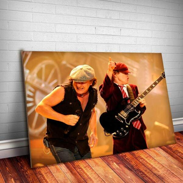 Placa Decorativa AC-DC 6 Angus Young e Brian Johnson