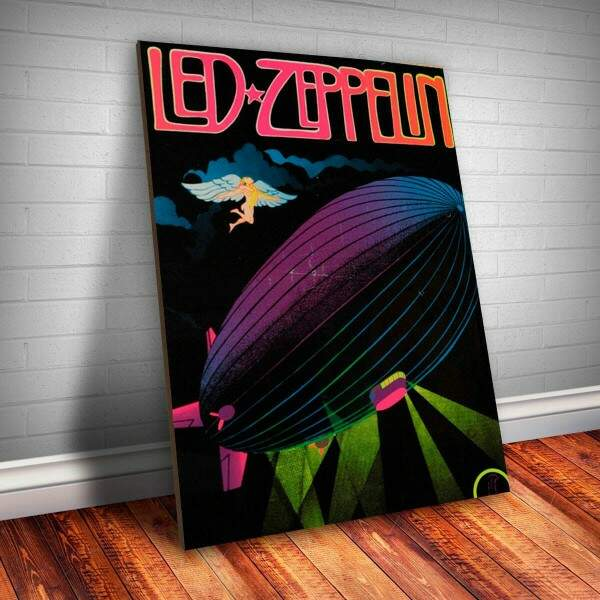 Placa Decorativa Led Zeppelin 4