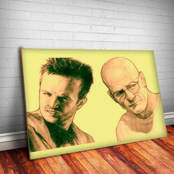 Placa decorativa Breaking Bad 17 Walter E Jesse
