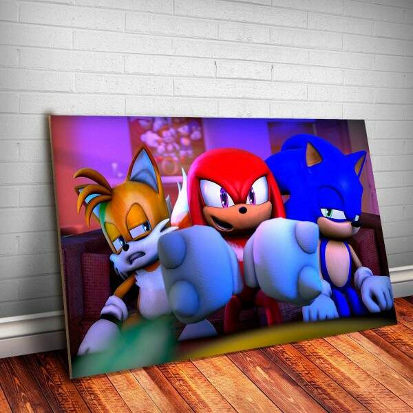 Placa Decorativa Sonic 6