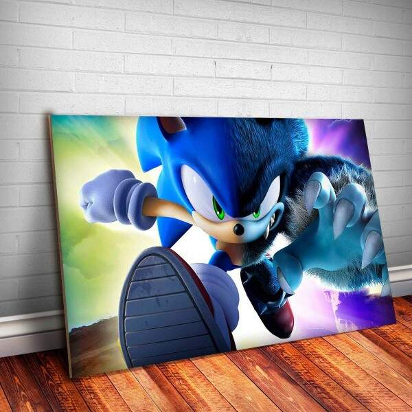 Placa Decorativa Sonic 9
