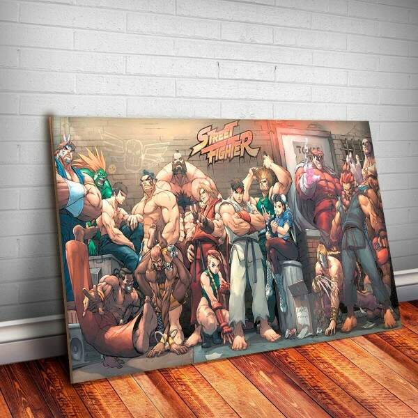 Placa Decorativa Street Fighter 3