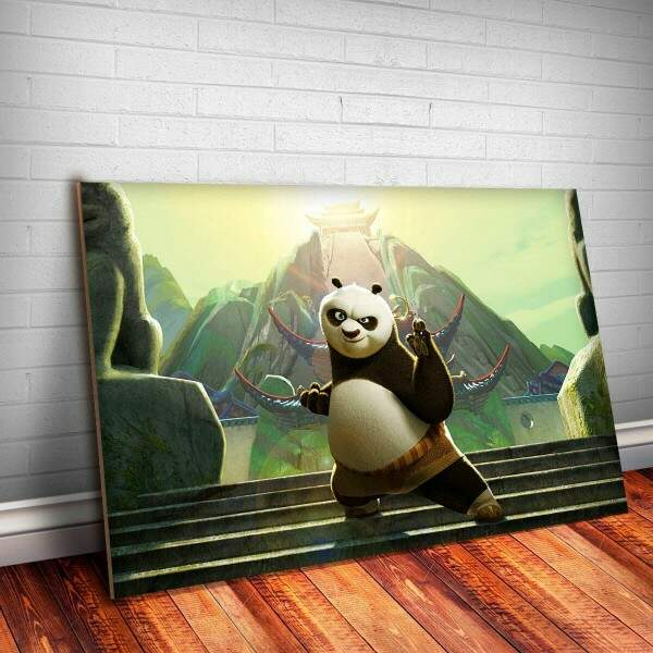 Placa Decorativa Kung Fu Panda 2