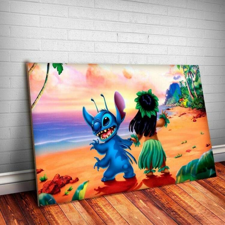 Placa Decorativa Lilo e Stitch 1