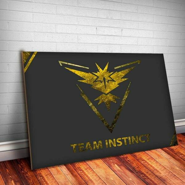 Placa Decorativa Pokemon 17 Team Instinct