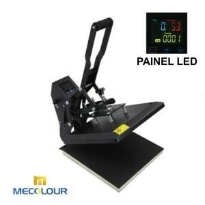 Prensa Plana 38x38cm - Tela LED - 110V/220V Mecolour + Base de Borracha + Teflon