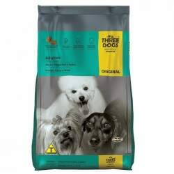Ração Three Dogs Premium Especial Original Adulto Raças Pequenas e Mini Frango, Carne e Arroz 15kg