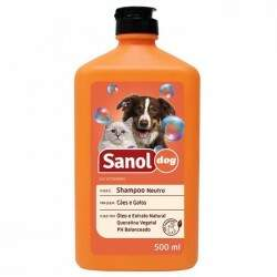 Shampoo Sanol Dog Neutro para Cães e Gatos 500ml