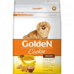 Biscoito Golden Cookie Adultos Banana, Aveia e Mel 350gr.