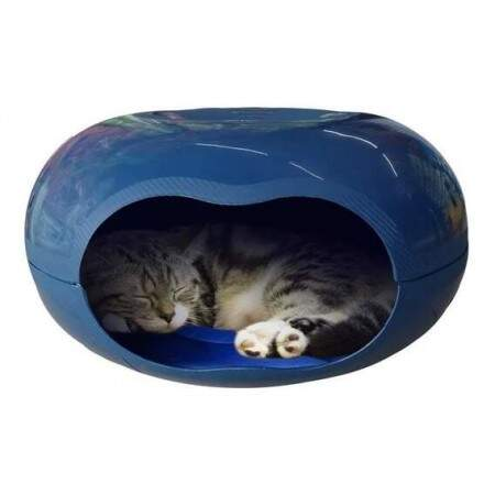 Casa para Gatos Cat Home Azul