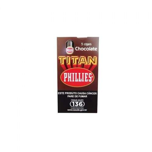 Charuto Phillies Titan Chocolate caixa c/5