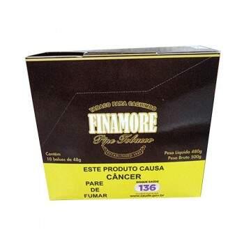 Fumo para Cachimbo Finamore Pêssego caixa com 10 pacotes