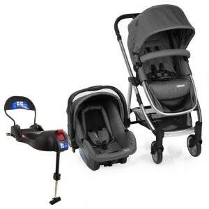 Travel System Infanti Epic Lite Trio Onyx e Base Isofix - Grey Classic